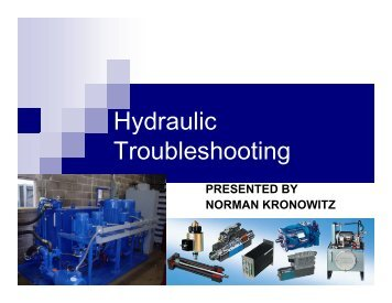 Troubleshooting hydraulic systems tn75