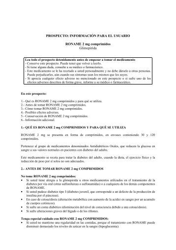 Prospecto Roname 2 mg - Lacer