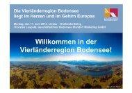 Willkommen in der Vierländerregion Bodensee! - RM Austria