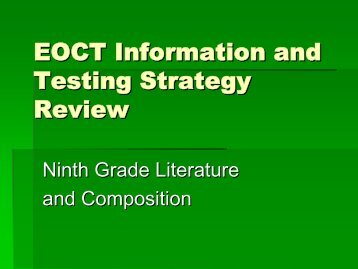 EOCT Information and Testing Strategy Review