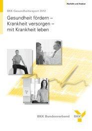 Gesundheitsreport 2012 - BKK-Landesverband NORDWEST