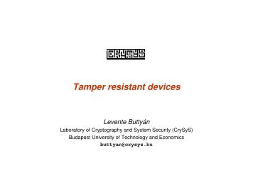 Tamper resistant devices - Sevecom