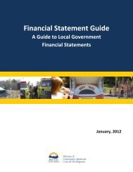 Guide to Local Government Financial Statements - Ministry of ...