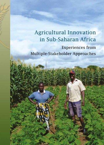 Agricultural Innovation in Sub-Saharan Africa experiencws ... - FARA
