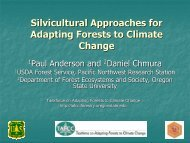 Silvicultural Approaches for Adapting Forests to Climate Change