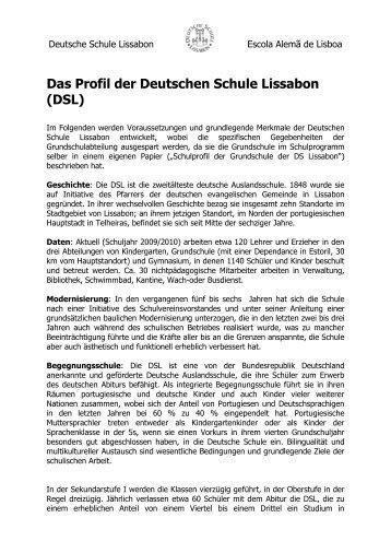 Zum Profil der DSL - Deutsche Schule Lissabon