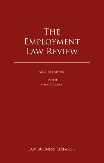 The Employment Law Review - Walder Wyss Ltd.
