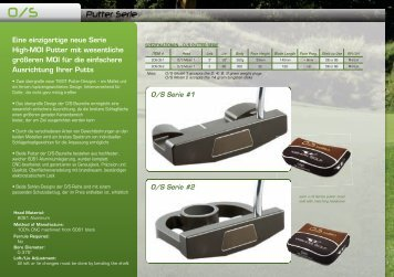 Putter Serie - True Custom Fitting