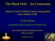 Black Hole – Jet Connection - Event Horizon Telescope