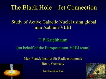 Black Hole – Jet Connection - Event Horizon Telescope