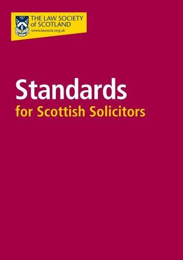 Standards - Law Society of Scotland