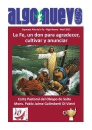Mons. Pablo G. CARTA PASTORAL, La Fe 19.3.2013