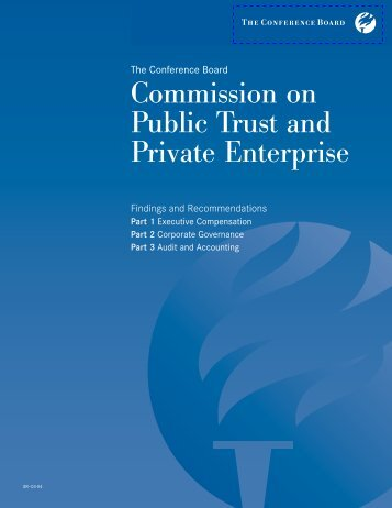 Commission on Public Trust and Private Enterprise - The ...
