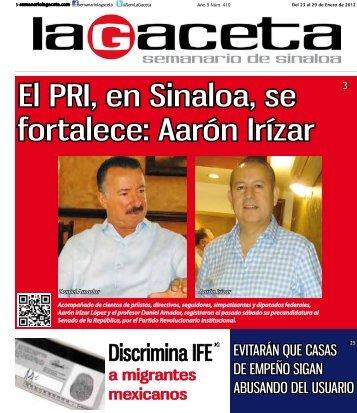 El PRI, en Sinaloa, se fortalece: Aarón Irízar - SEMANARIO LA ...