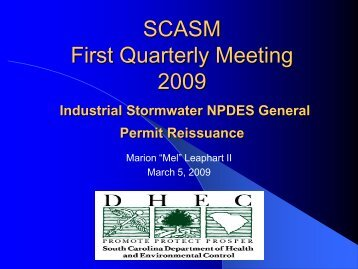 Industrial stormwater permitting - Municipal Association of South ...
