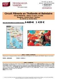 Circuit Thailande Séjour Jomtien - Afat