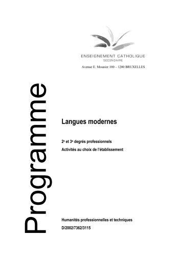 Langues modernes