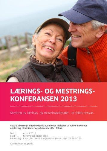 lærings- og mestrings- konferansen 2013 - Vestre Viken HF