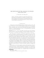 THE EIGENVALUES OF THE LAPLACIAN ON DOMAINS WITH ...