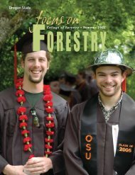 College of Forestry • Summer 2005 - Oregon State University