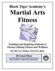 Martial Arts Fitness - Physical Education for Body, Mind and Spirit