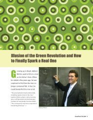 Illusion of the Green Revolution and How to Finally Spark a Real One