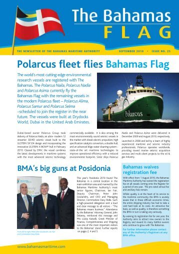 Polarcus fleet flies Bahamas Flag - The Bahamas Maritime Authority