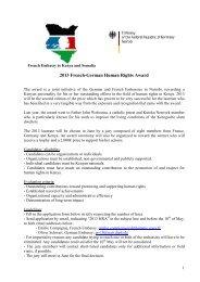 Call for proposals - Ambassade de France au Kenya