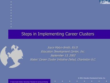 Steps in Implementing Career Clusters - Education Development ...