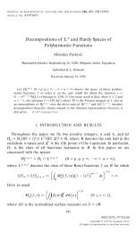 Decompositions of L^p and Hardy spaces of ... - Ncd.matf.bg.ac.rs