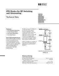 PIN Diodes for RF Switching and Attenuating Technical Data