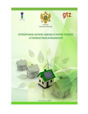 Izvještaj istraživanja - novembar 2010 - Energetska efikasnost