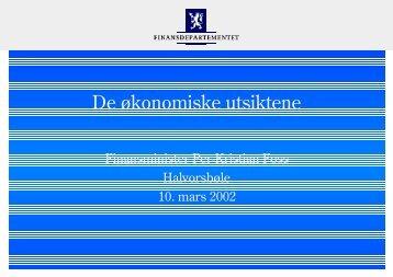 Freelance Graphics - Pressekonf. HA03.PRZ - Statsbudsjettet
