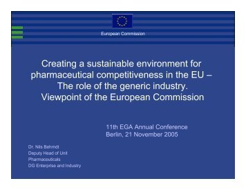 Presentation - European Generic medicines Association