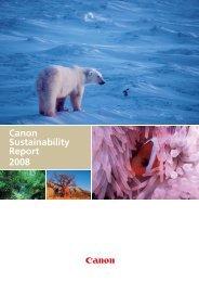 Canon Sustainability Report 2008