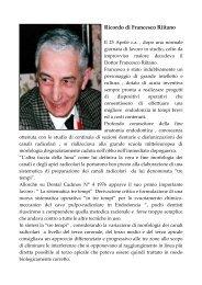 Ricordo di Francesco Riitano - Accademia Italiana Endodonzia