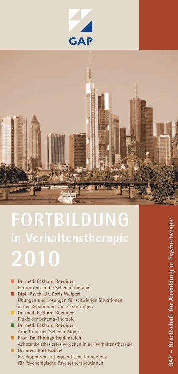 FORTBILDUNG in Verhaltenstherapie 2010 - GAP