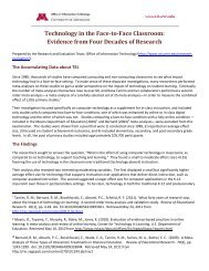 Technology in the Face-to-Face Classroom: Evidence from ... - OIT