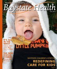 Fall 2012 - Baystate Health
