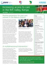 Increasing access to care in the Rift Valley, Kenya - International ...