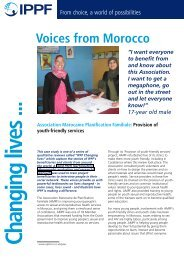 Voices from Morocco - International Planned Parenthood Federation