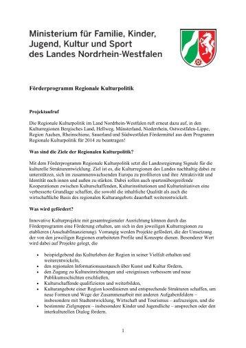 Projektaufruf - Volksmusikerbund NRW e.V.