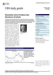 UBS daily guide - Haussmann Patrimoine