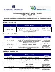 31 October 2008 Karachi, Pakistan Organised by the Islam - IFSB