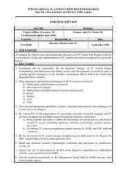 JOB DESCRIPTION - International Planned Parenthood Federation
