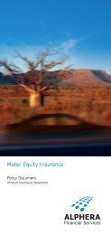 Alphera Motor Equity insurance