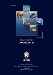 Download the Caspian Oil & Gas Conference sponsorship brochure