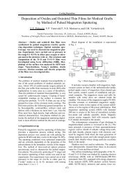 Deposition of Oxides and Oxinitrid Thin Films for Medical Grafts by ...