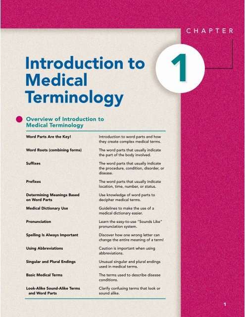 Introduction to Medical Terminology - Malattie metaboliche it