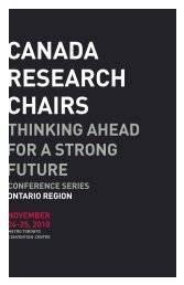 CANADA RESEARCH CHAIRS - Council of Ontario Universities